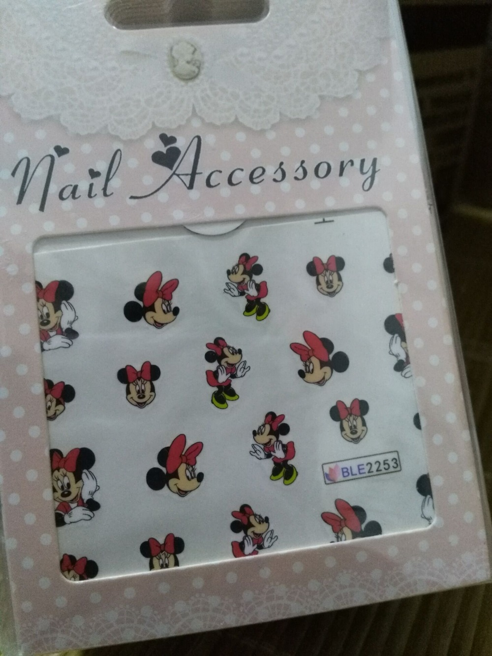 цена  Selling BLE2253/BLE 2255 1Mickey Mouse 3D  water transfer Nail Art Stickers Decals For Nail Tips Decoration Nail Accessories 2PC  онлайн в 2017 году