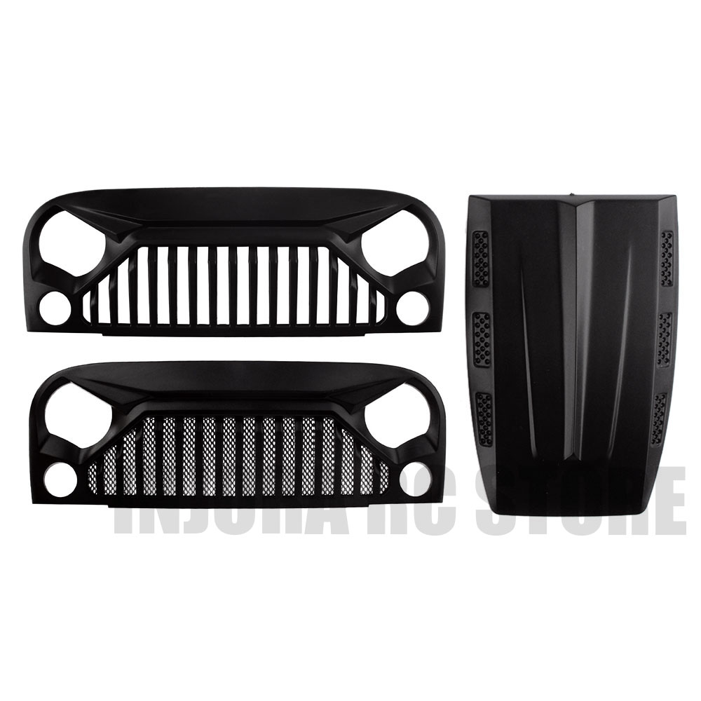 RC Car 1:10 <font><b>Scale</b></font> Engine Hood Air Inlet Grille Front Face for <font><b>1/10</b></font> RC <font><b>Crawler</b></font> Axial SCX10 90046 D90 <font><b>Body</b></font> Shell image