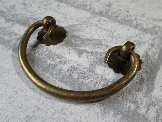 25 drawer pulls handles dresser pull drop bail antique bronze copper rustic cabinet handle pull old furniture decorative 64 mm - Decorative Drawer Pulls