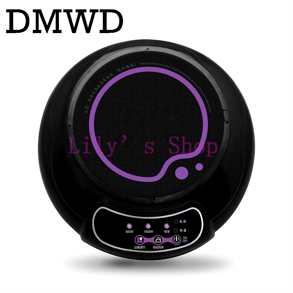 DMWD Household mini waterproof electric induction cooker milk water coffee heating stove teapot boiled noodle travel Furnace multifunction mini household electric stove small electric household furnace thermostat hot milk cooker travel hot plate eu plug