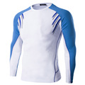 2016 Fitness Men Long Sleeve T-shirt Male Thermal Muscle Bodybuilding Compression Tights A8875