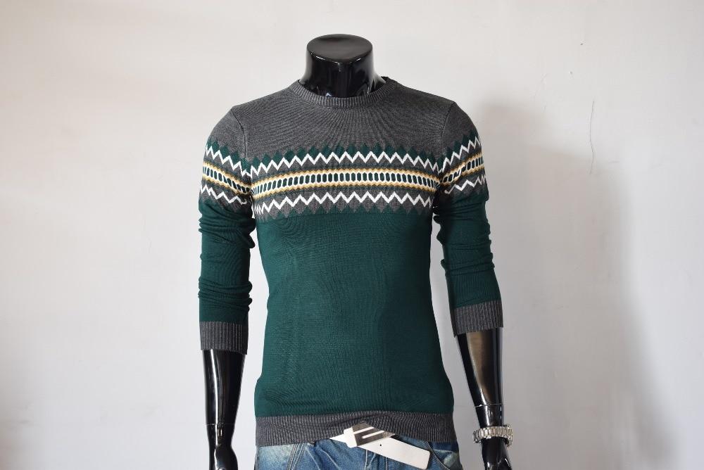 2017 Baru Musim Gugur Merek Fashion Kasual Sweater O-Neck Slim Fit - Pakaian Pria - Foto 5