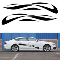 2 X Simple Elegant Oval Car Stickers Stripes Surround Ribbon Art For SUV Camper Van Truck