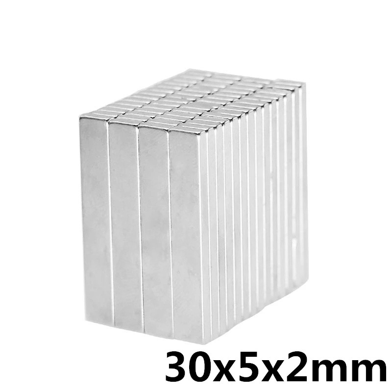15pcs <font><b>30</b></font> x <font><b>5</b></font> x 2mm N35 Cuboid Block Magnets Rare Earth Neodymium Magnets Strong Square Permanent Magnet image