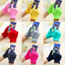 DHL Freies 100 Paar/lot Unisex Winter Warme Kapazitiven Stricken Handschuhe Hand Wärmer für Auto Stick Touch Screen Smart telefon Weibliche Handschuhe