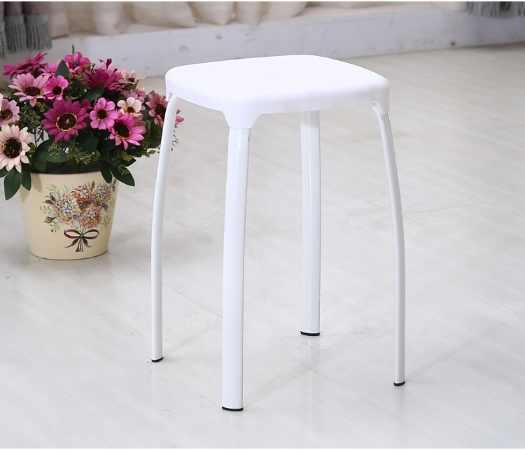 Plastic Footstool steel pipe leg bedroom computer stool white green color retail and wholesale free shipping hotel hall office chair green blue color lifting rotation stool retail wholesale pink blue furniture chair free shipping
