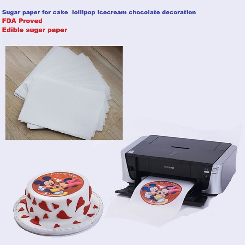 picture about Printable Edible Paper called US $17.99 A4 10computers/whole lot edible rice paper for cakes lollipop icecream chocolate food stuff printing and decoration-inside Other Cake Instruments versus Household  Yard upon