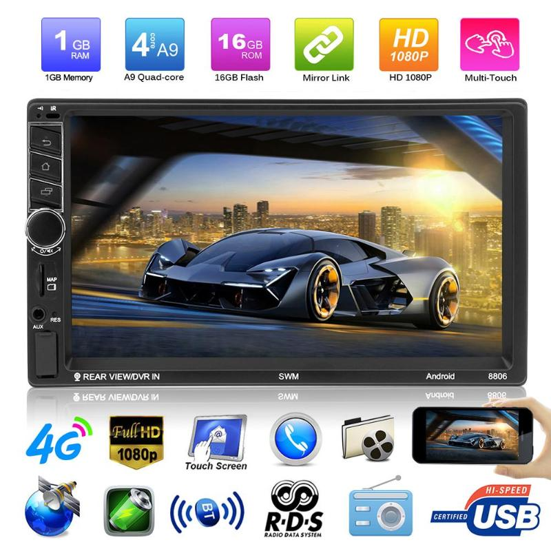 7 HD Touch Screen 2 Din in-dash Bluetooth Android Car MP5 Player GPS Navigator USB AUX Audio Video Player FM Radio Autoradio 7 2 din touch screen car stereo mp5 player 4core android os bluetooth wifi gps navigator auto fm radio autoradio mirror link