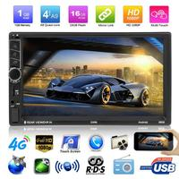 7 HD Touch Screen 2 Din in dash Bluetooth Android Car MP5 Player GPS Navigator USB AUX Audio Video Player FM Radio Autoradio