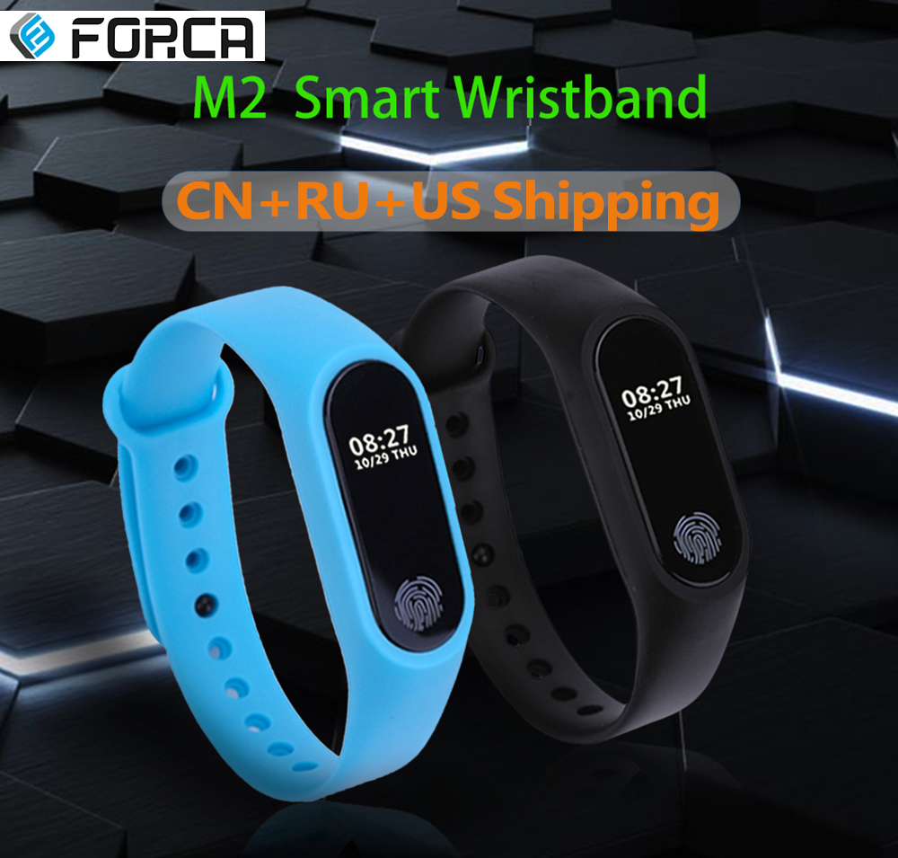 M2 Smart Bracelet OLED Fitness Activity Tracker with Heart Rate Monitor Sleep Pedometer Step Counter Call Message Reminder Watch