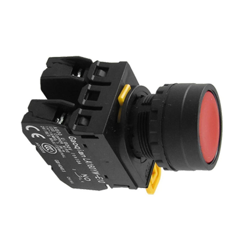 Professional YW1B-M1E11PR Red Sign Signal Momentary Push Button Switch 22mm 7/8 --M25
