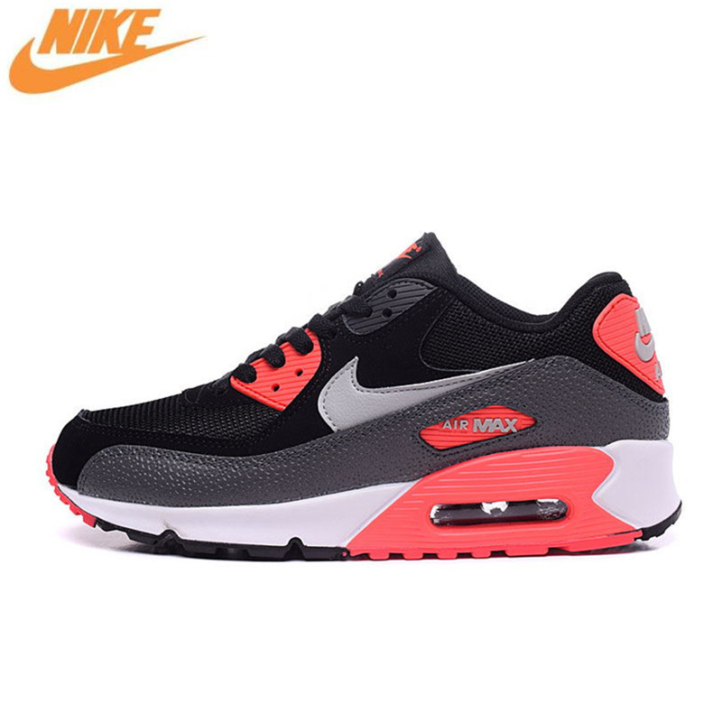 Nike Men's WMNS AIR MAX 90 ESSENTIAL Breathable Running Shoes,Original New Arrival Official Men Outdoor Sport Sneakers Trainers casual new fashion sewor brand skeleton men male military army clock classic luxury gold mechanical hand wind wrist watch gift