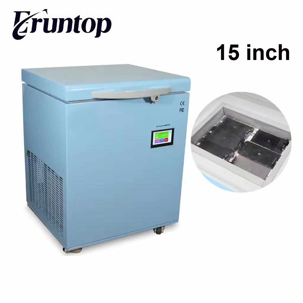 15 inch -150C Professional Small Freezing Machine LCD Touch Screen Separating Frozen Separator for S6 edge S7 edge free shipping screen repair machine kit ly 946d lcd separator for 5 inch mobile screen 12 in 1 separate machine