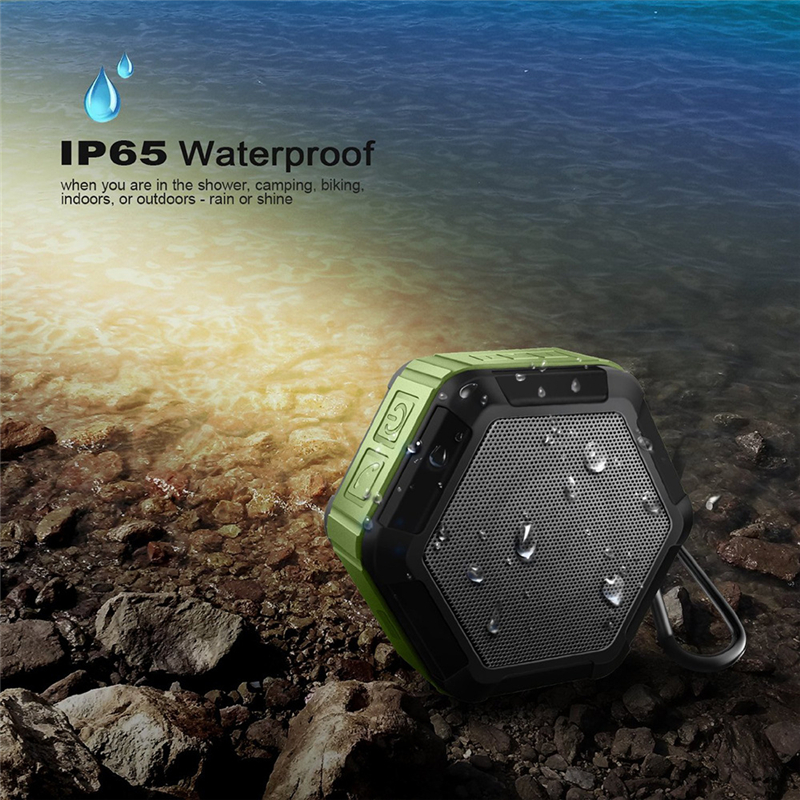 M&J IP67 Waterproof Mini Bluetooth Speaker With Powerful Sub Woofer For Outdoors 7