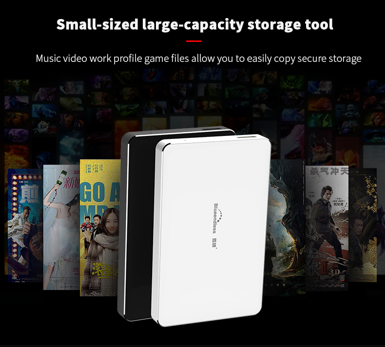 320GB500GB750G1TB2TB BS-H8 2.5USB 3.0 SATA HDD Box HDD Hard Disk Drive External HDD Enclosure Case(Hard disk included) (4)