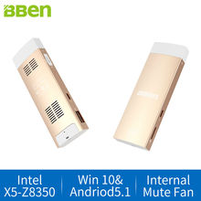 Bben stick mini PC Windows 10 + двойной ОС Android 5.1 Intel X5-Z8350 Quad Core 2 ГБ + 32 ГБ HDMI WIFI BT4.0 мини-компьютер stick PC