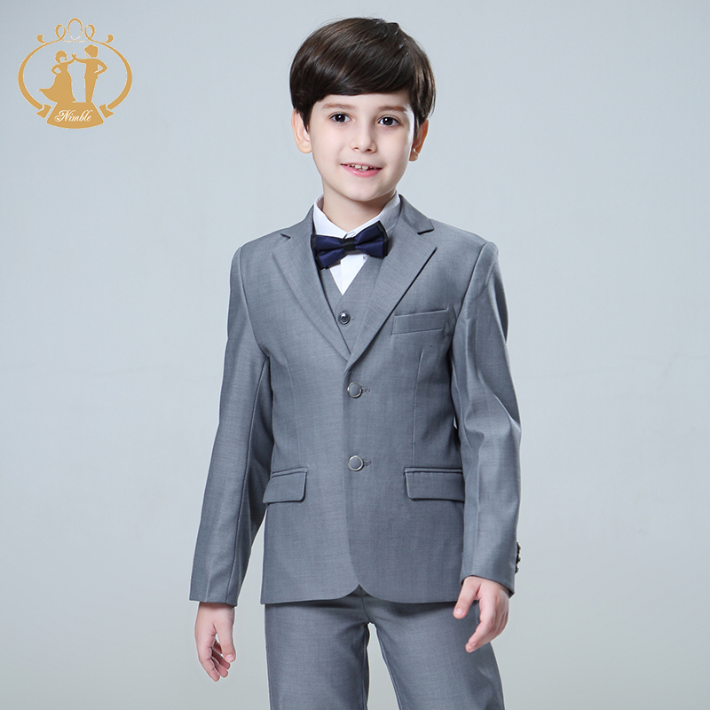 Nimble 5pcs Set Boys Suits for Weddings Kids Prom Suits Wedding Suits Kids Blazers Boys Clothing