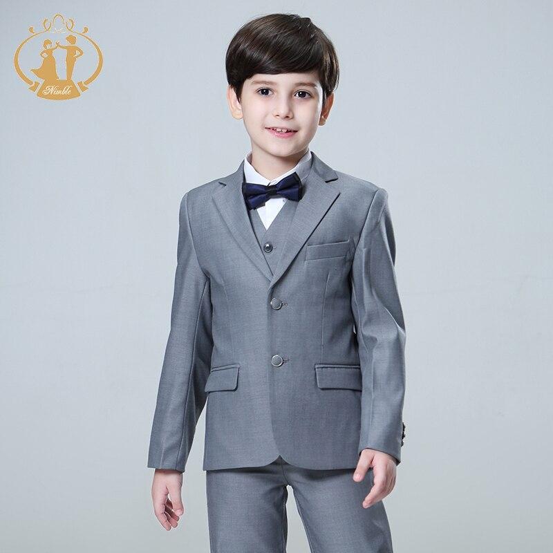 Nimble 5pcs/Set Boys Suits for Weddings Kids Prom Suits Wedding Suits Kids Blazers Boys Clothing Set Boy Formal Terno Infantil