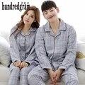 Primavera e no outono doce casal pijama de algodão longo-sleeved seção fina de verão homens do serviço de casa das mulheres