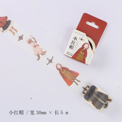 3cm 5m 1 pcs Fairytale Little Red Riding Hood design washi tape Adhesive DIY Scrapbook Sticker Label Masking home decor