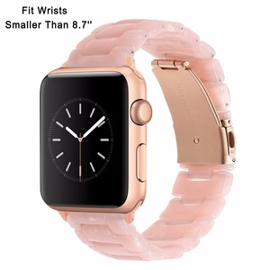 Image 2 - Trumirr Immitation Ceramic Watchband for iWatch Apple Watch SE 38mm 40mm 42mm 44mm Series 1 2 3 4 5 6 Resin Band Wrist Strap