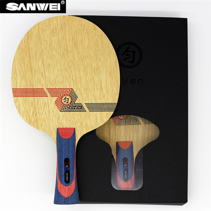 Sanwei WHITE EVEN BY 1091 Table Tennis Blade 10 9 Soft Carbon for 40 Racket Ping