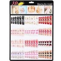 Candy lover 144 unids 12 estilo sweet color rhinestones noble 3d uñas falsas del clavo falso novia de la boda