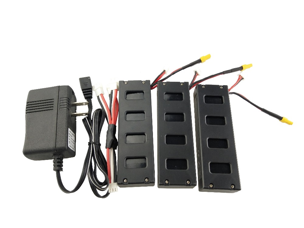 For the MJX B3 helicopter 3PCS 7.4V 1800mah battery and the US regulatory charger with 1 care 3-line aircraft accessories four axis aircraft lithium battery accessories for udi u842 u842 1 u818s helicopter 3pcs battery and 6 in 1 charger