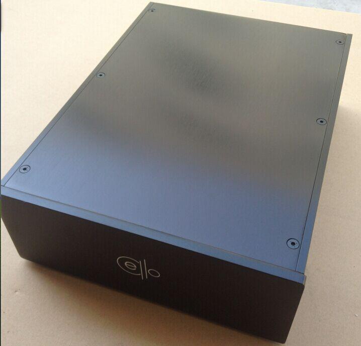 Dernier violoncelle plein aluminium 2309B argent/noir amplificateur châssis/boîte de préampli/boîtier de bricolage