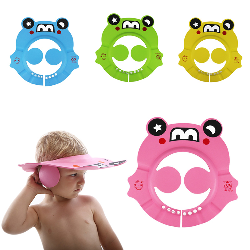Adjustable Baby Shower Hat Toddler Shampoo Bathing Shower Cap Wash Hair Shield with Ear Protect YH-17