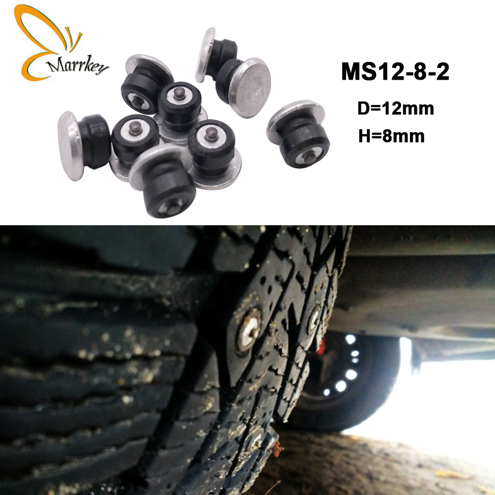 Marrkey 100PCS 8mm Spikes for Tires/Winter Tire Spikes/Car Tire Studs/Snow Chians Ice Stud Carbide studs for Auto Car/SUV/ATV(China)