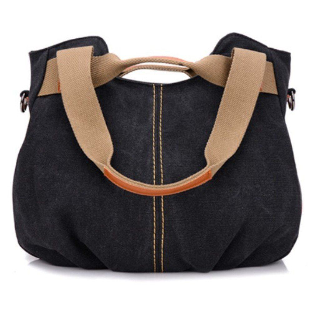 Hot sale Women's Ladies Casual Vintage Hobo Canvas Daily Purse Top Handle Shoulder Shopper Handbag