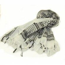 Военный Тактический Keffiyeh Shemagh шарф в арабском стиле, шаль на шею, накидка на голову, белый хлопок, зимние шарфы для прогулок
