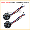 2pcs 1157 2057 2357 7528 1157A BA15D 2357A 2397 BA15D LED Bulb Backup Light Turn Signal Light Socket Harness Plug Adapter Base