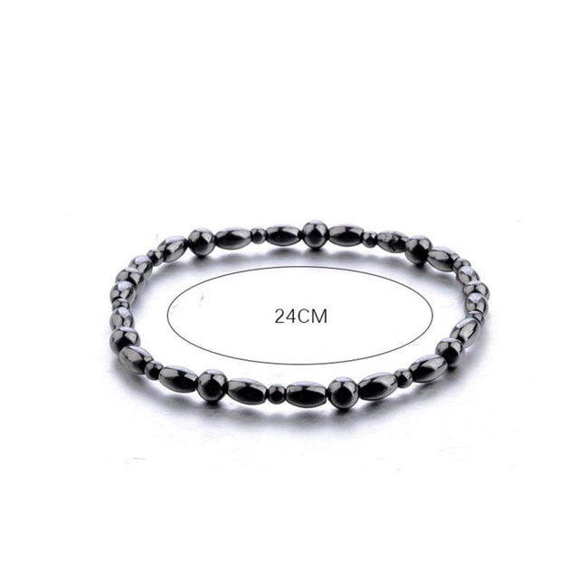 Adjustable Weight Loss Magnetic Therapy Bracelet Therapy Slimming Hand Chain Hematite Stretch Magnet Bracelets Health care slim 5