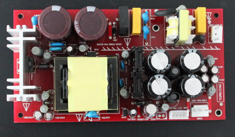 Free Shipping! 1pc digital amplifier Switching Power Supply board 200W Dual 28V + Dual 15V with transformer