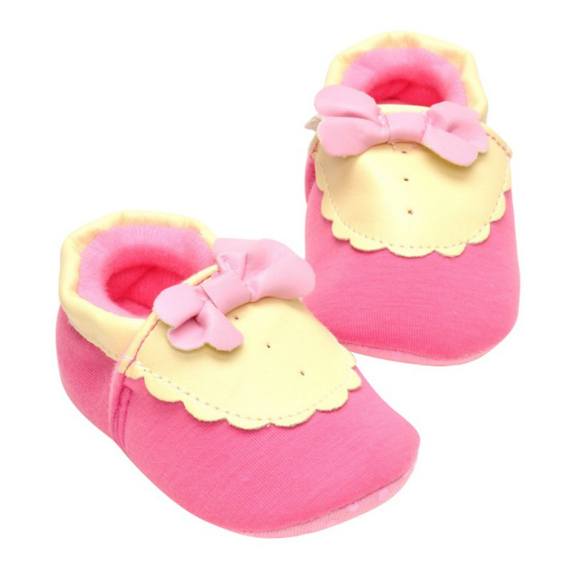 Baby Soft Sole Anti-slip Shoes Infant Boy Girl Toddler Crib Moccasin Prewalker Bow Dress Shoes