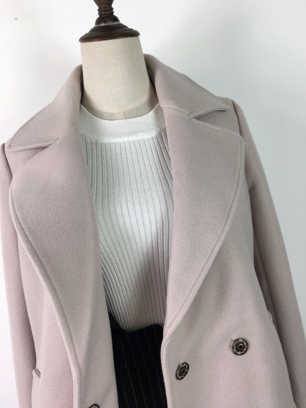 De Simple Style Manteaux Ceintures Nouvelle Gray 2017 Conception Longue Beige Femmes Vestes Laine RqCSfY