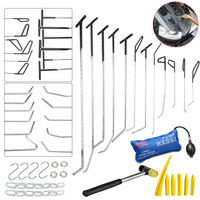 PDR Hook Tools Push Rod Black Car Crowbar Pump Wedge Paintless Dent Repair Tools PDR Kits Ding Hail Puller Set Ferramentas
