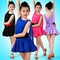 Formación de Chicas Vestidos Niños Cha-cha Dancewear Latino Competencia de Baile Vals Danza Traje Niño Vestido de Baile Latino Para Las Niñas