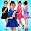 Training Girl Latin Dancewear Competition Dancing Dresses Children Cha-Cha Waltz Dance Costume Child Latin Dance Dress For Girls
