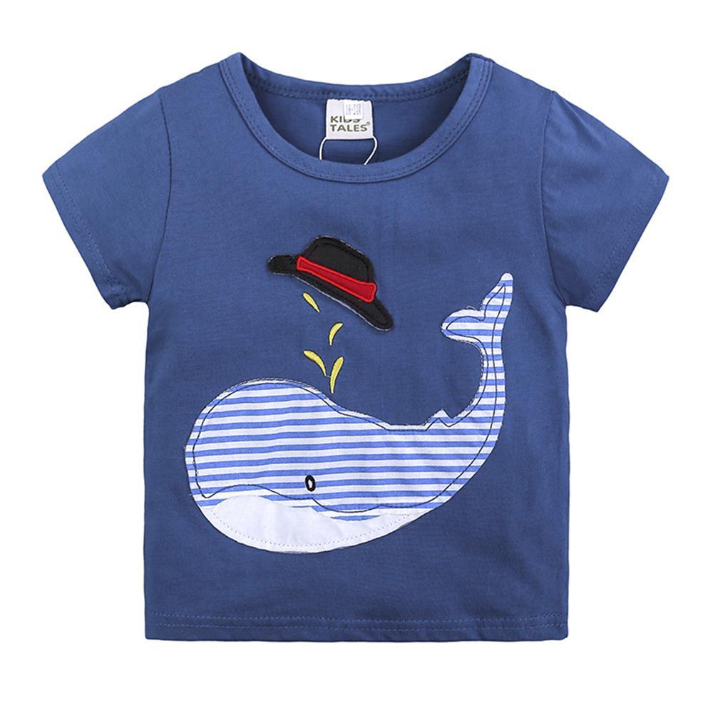 1 2 3 4 5 6 letnie chłopięce letnie ubrania 2018 Nowe codzienne - Ubrania dziecięce - Zdjęcie 3