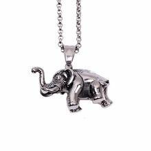 Крепкий слон ожерелье с подвеской в виде животного модные ювелирные