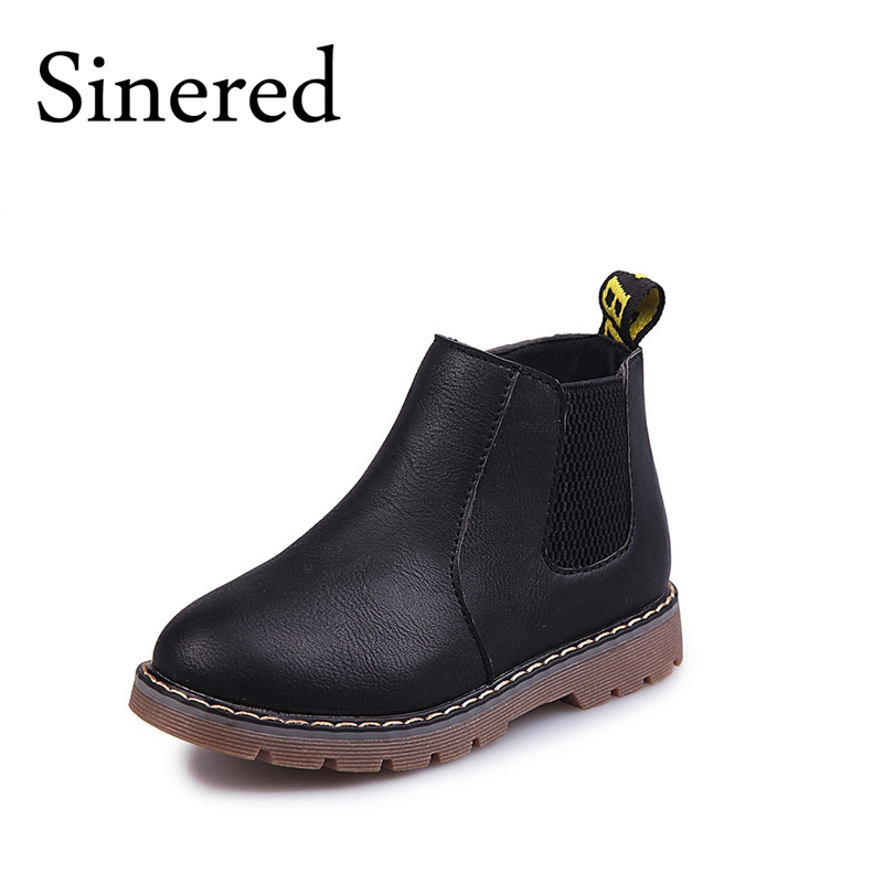 Sinered-2017-autumn-winter-new-childrens-fashion-boots-boy-girls-non-slip-boots-British-boots-kids-retro-Martin-boots-2