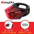 Easydo 2 стиль USB заряжаемый MTB дорожный велосипед задний фонарь Водонепроницаемый Горный велосипед задний фонарь велосипедная Подседельный ш...