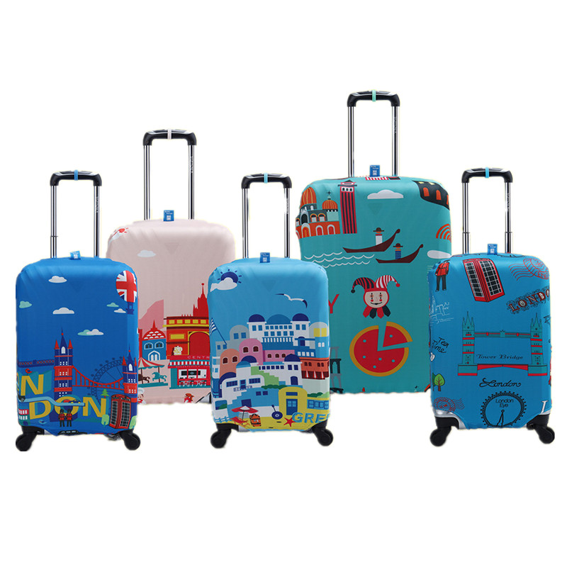 Waterproof Elastic Luggage Protective Cover For 20 to 30 inch Trolley Suitcase Protect Dust Bag Case