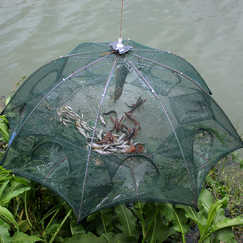 NEW Automatic Fishing Net Shrimp Cage Nylon Foldable Crab Fish Trap Cast Net Cast Folding Fishing Network Free shipping