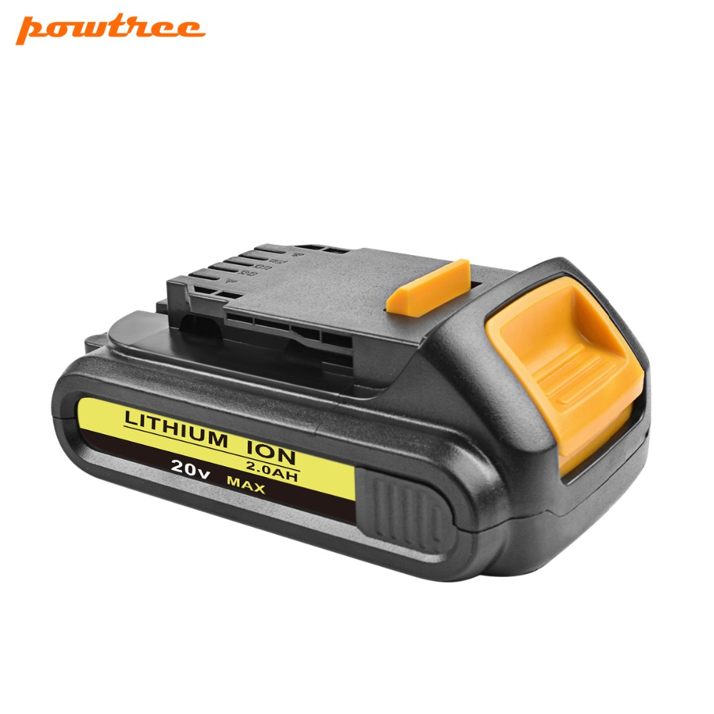 18V 2000mAh DCB200 Li-ion Rechargeable Power Tool Battery For DEWALT DCB203 DCB181 DCB180 DCB200 DCB201 DCB201-2 5000mah 20v lithium ion power tool rechargeable battery replacement for dewalt 20v dcb181 dcb180 dcb182 dcb200 dcb201 dcb203