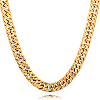 Miami Cuban Chains For Men Hip Hop Jewelry Gold Filled 11mm Width Thick Long Big Chunky