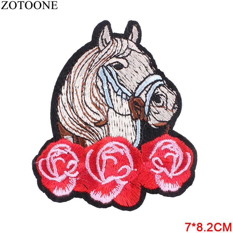Zotoone 1 pc arco-íris flor unicórnio astronauta ferro em remendos para vestuário bordado remendos carta crachá adesivos decoração b